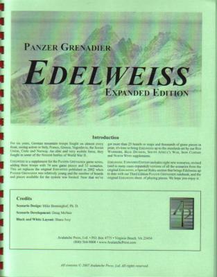 Panzer Grenadier: Edelweiss