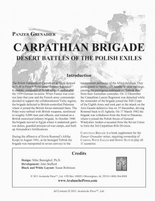 Panzer Grenadier: Carpathian Brigade