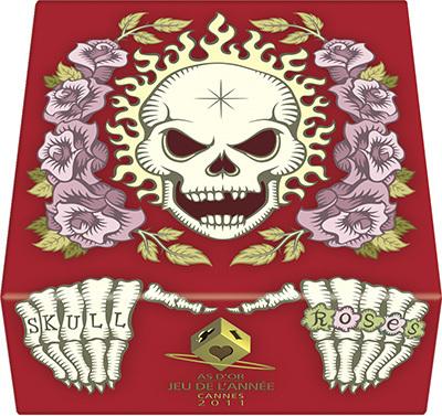 Skull & Roses Red