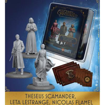 Harry Potter Miniatures Game: Theseus Scamander, Leta Lestrange, Nicolas Flamel