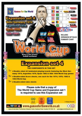 The World Cup Game:  Expansion Set 4