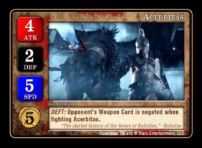 Spartacus: Acerbitas Promo Card